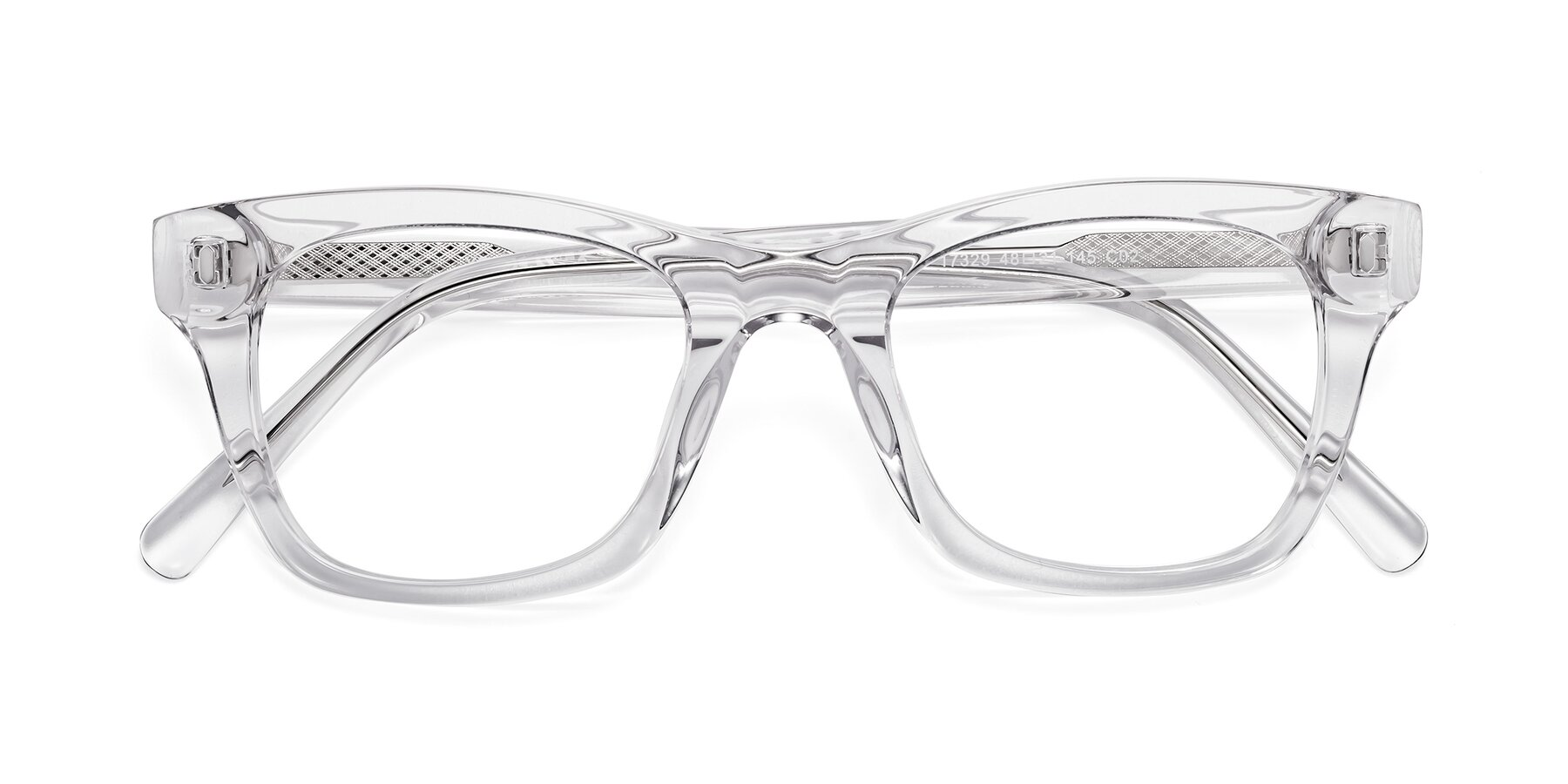 Folded Front of 17329 in Clear with Clear Eyeglass Lenses
