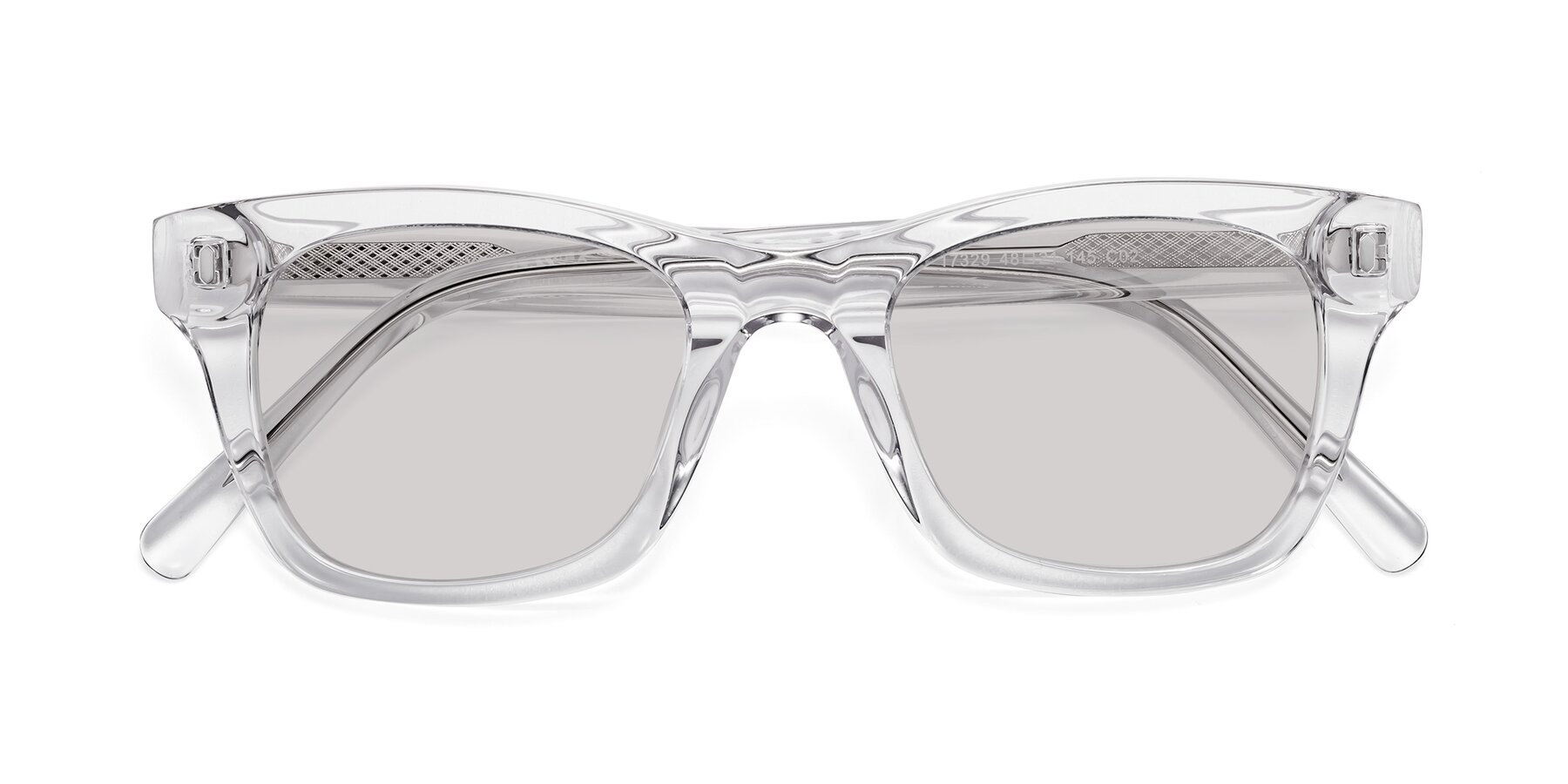 Folded Front of 17329 in Clear with Light Gray Tinted Lenses