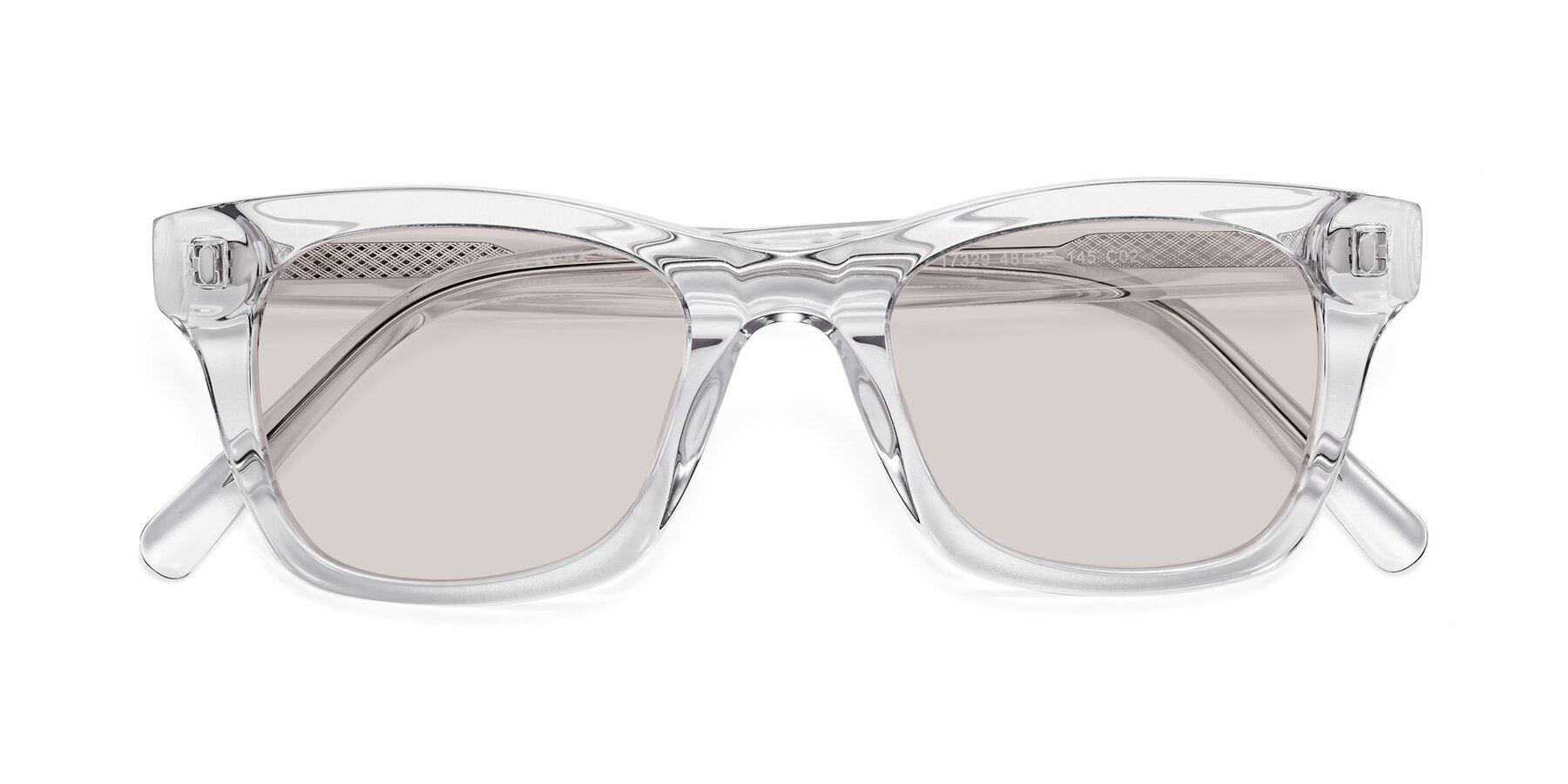 Folded Front of 17329 in Clear with Light Brown Tinted Lenses