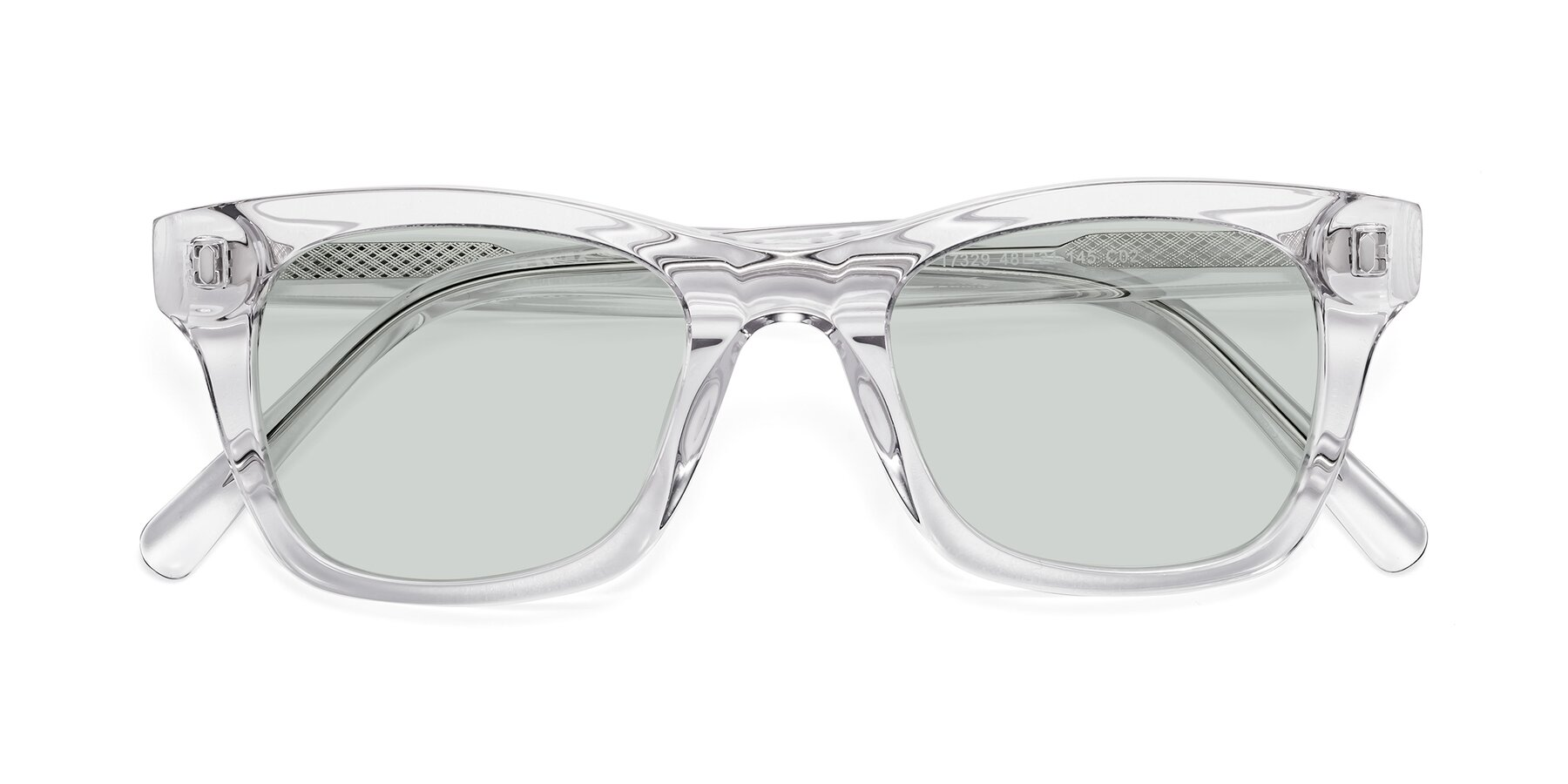 Folded Front of 17329 in Clear with Light Green Tinted Lenses