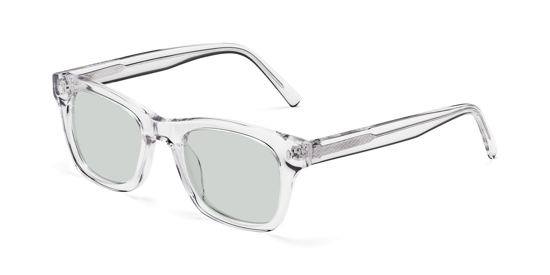 Angle of 17329 in Clear with Light Green Tinted Lenses