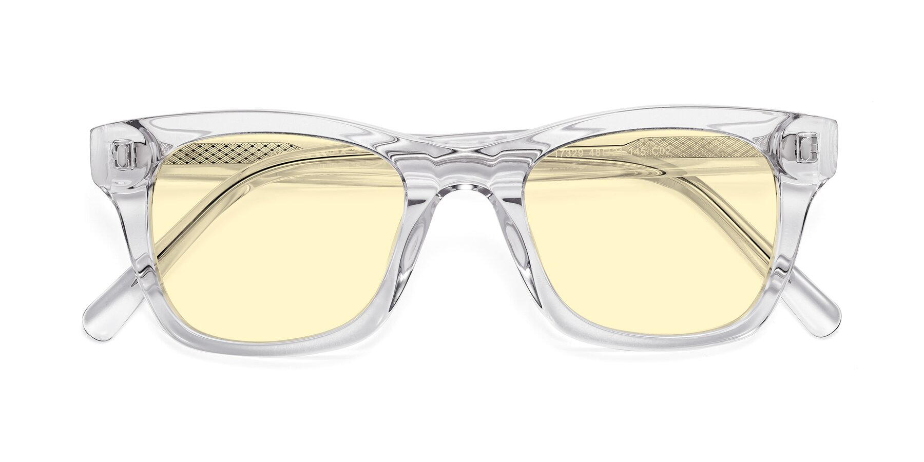 Folded Front of 17329 in Clear with Light Yellow Tinted Lenses