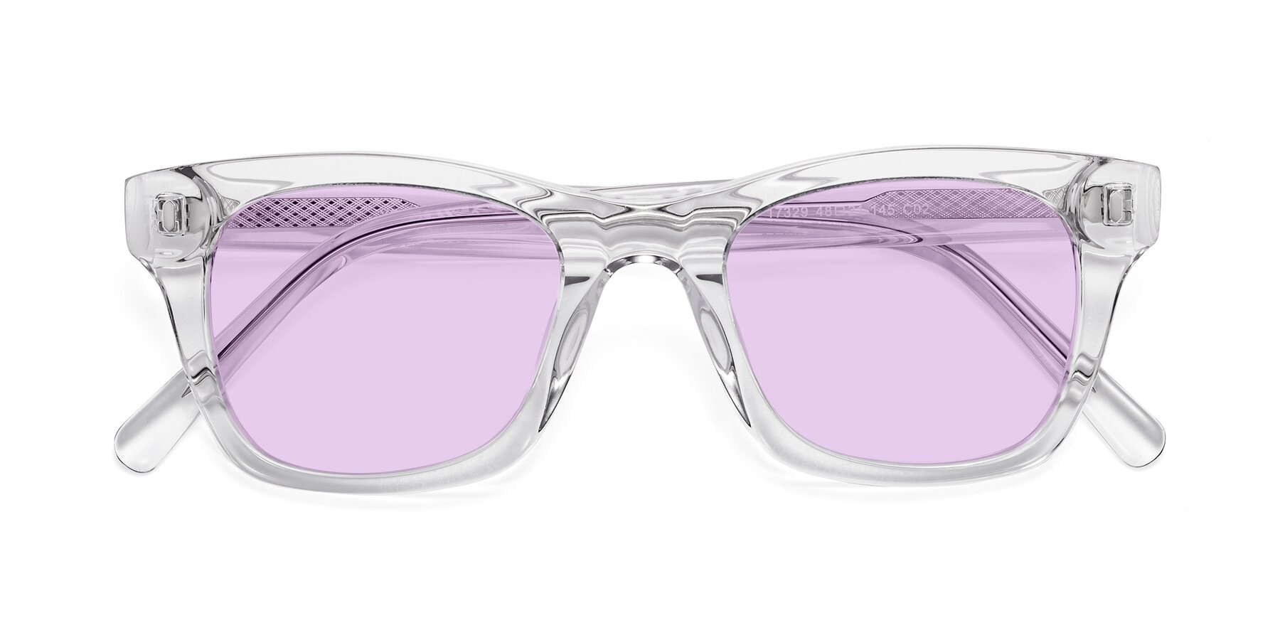Folded Front of 17329 in Clear with Light Purple Tinted Lenses