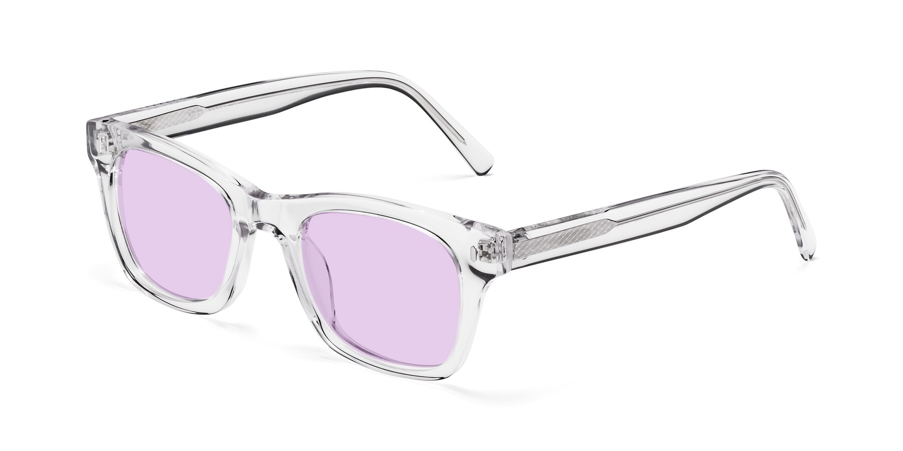 Angle of 17329 in Clear with Light Purple Tinted Lenses