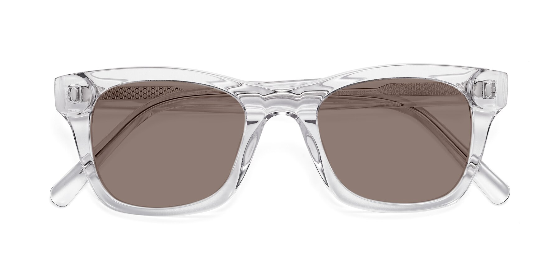 Folded Front of 17329 in Clear with Medium Brown Tinted Lenses