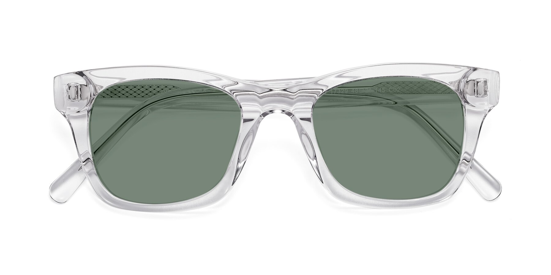 Folded Front of 17329 in Clear with Medium Green Tinted Lenses