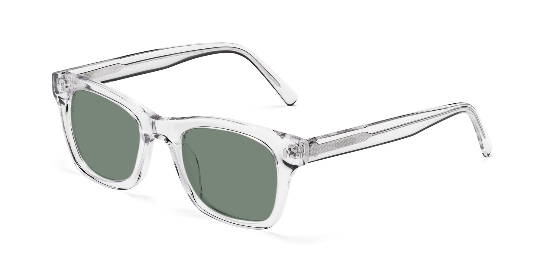 Angle of 17329 in Clear with Medium Green Tinted Lenses