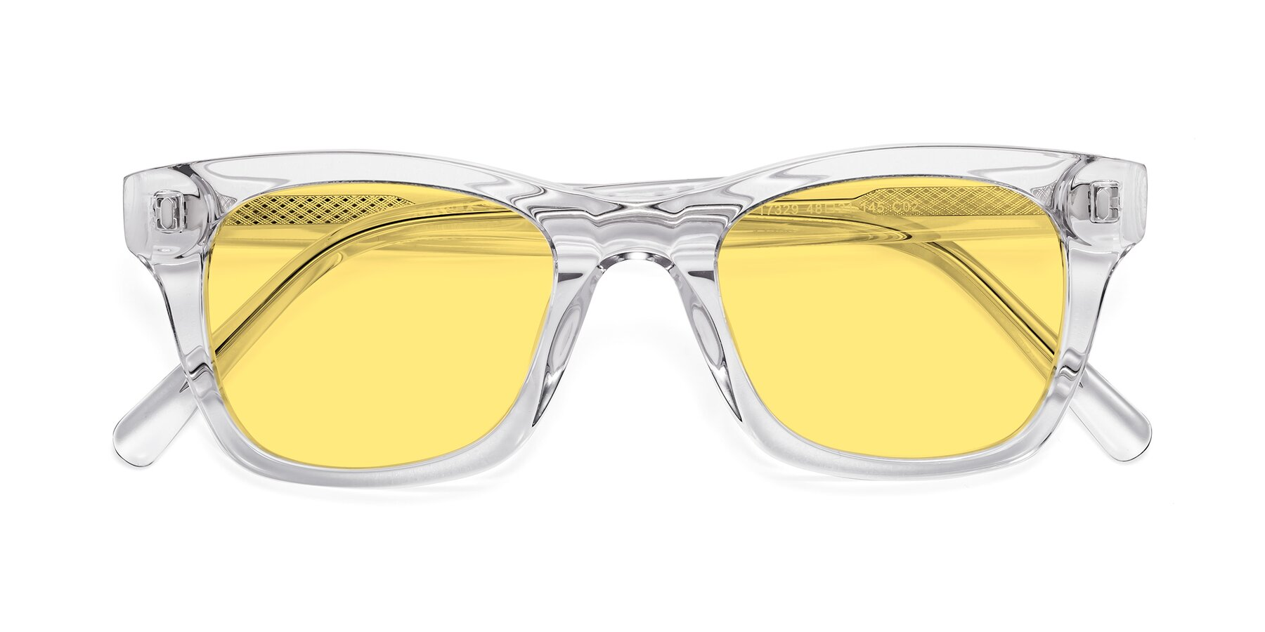 Folded Front of 17329 in Clear with Medium Yellow Tinted Lenses