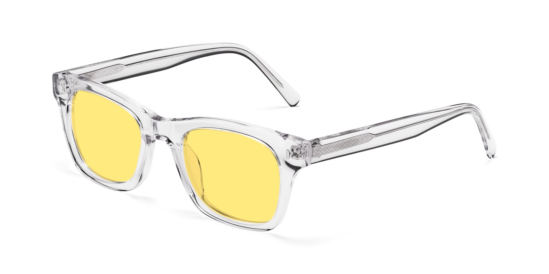 Angle of 17329 in Clear with Medium Yellow Tinted Lenses