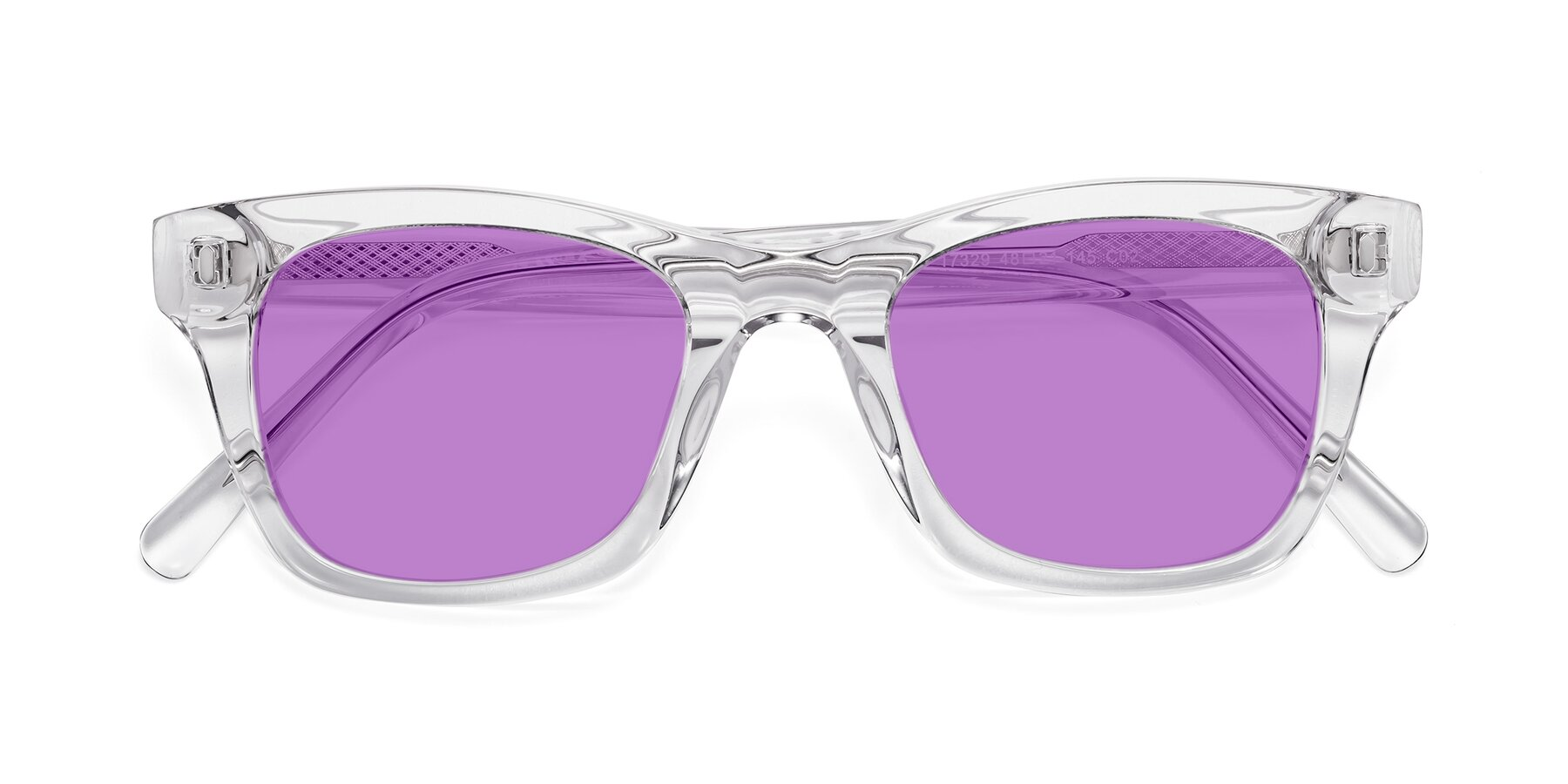 Folded Front of 17329 in Clear with Medium Purple Tinted Lenses