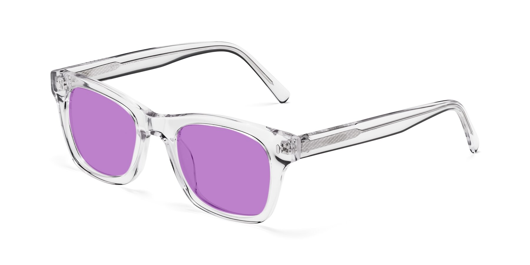 Angle of 17329 in Clear with Medium Purple Tinted Lenses