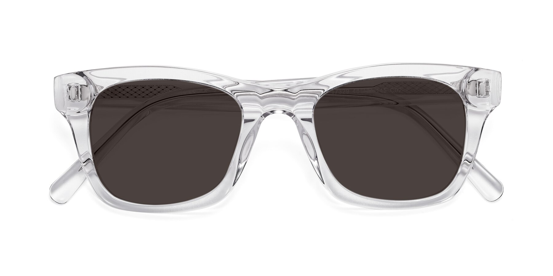 Folded Front of 17329 in Clear with Gray Tinted Lenses