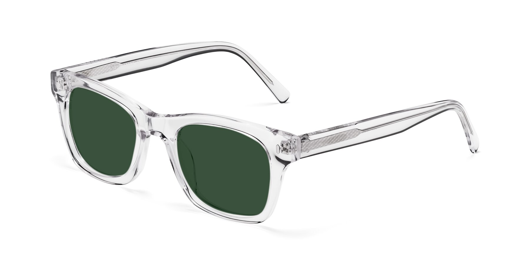 Angle of 17329 in Clear with Green Tinted Lenses
