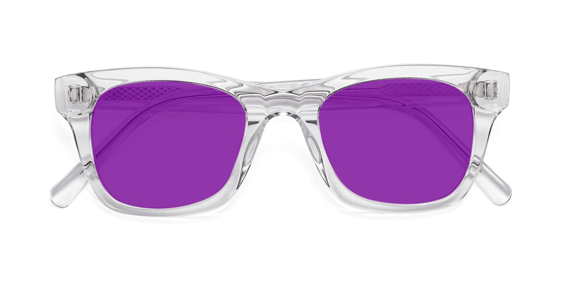 Folded Front of 17329 in Clear with Purple Tinted Lenses