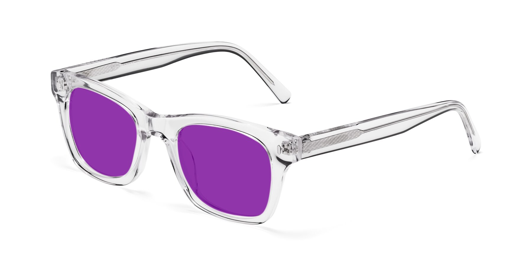 Angle of 17329 in Clear with Purple Tinted Lenses