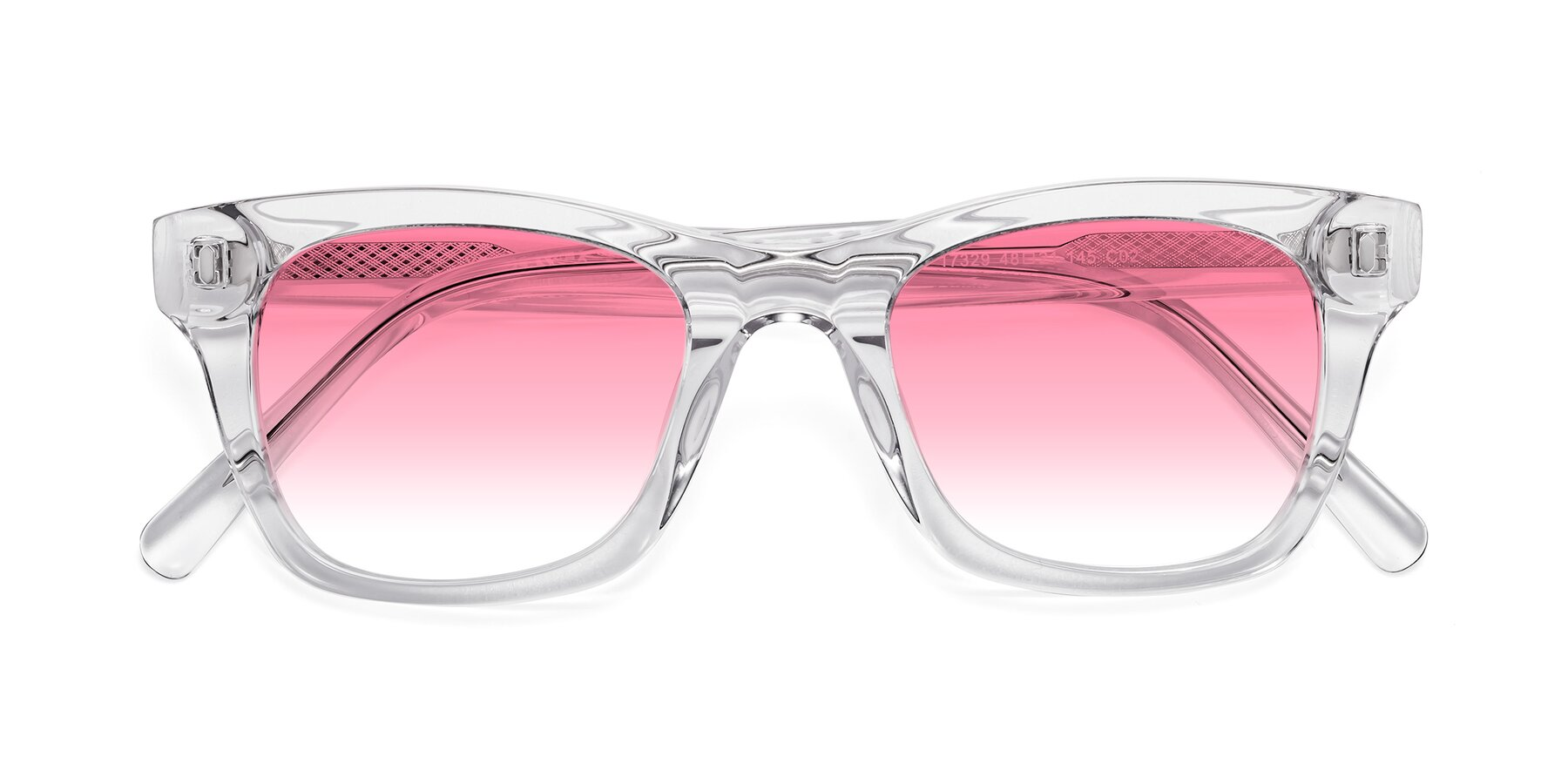 Folded Front of 17329 in Clear with Pink Gradient Lenses