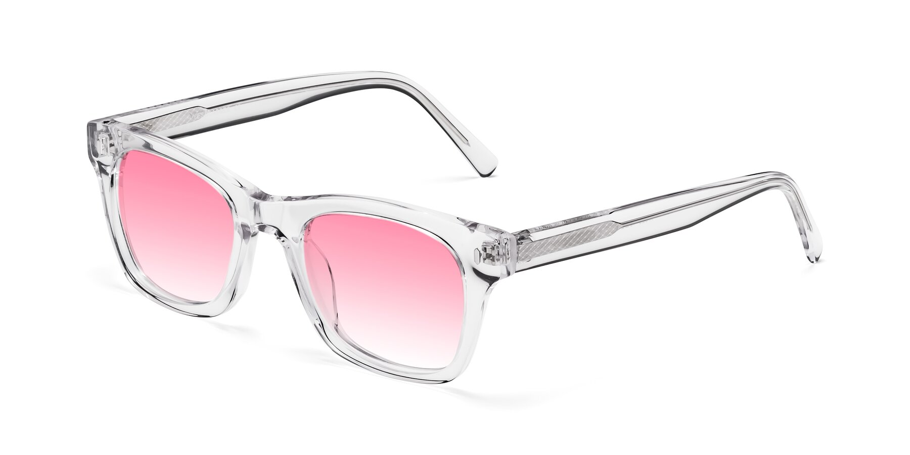 Angle of 17329 in Clear with Pink Gradient Lenses