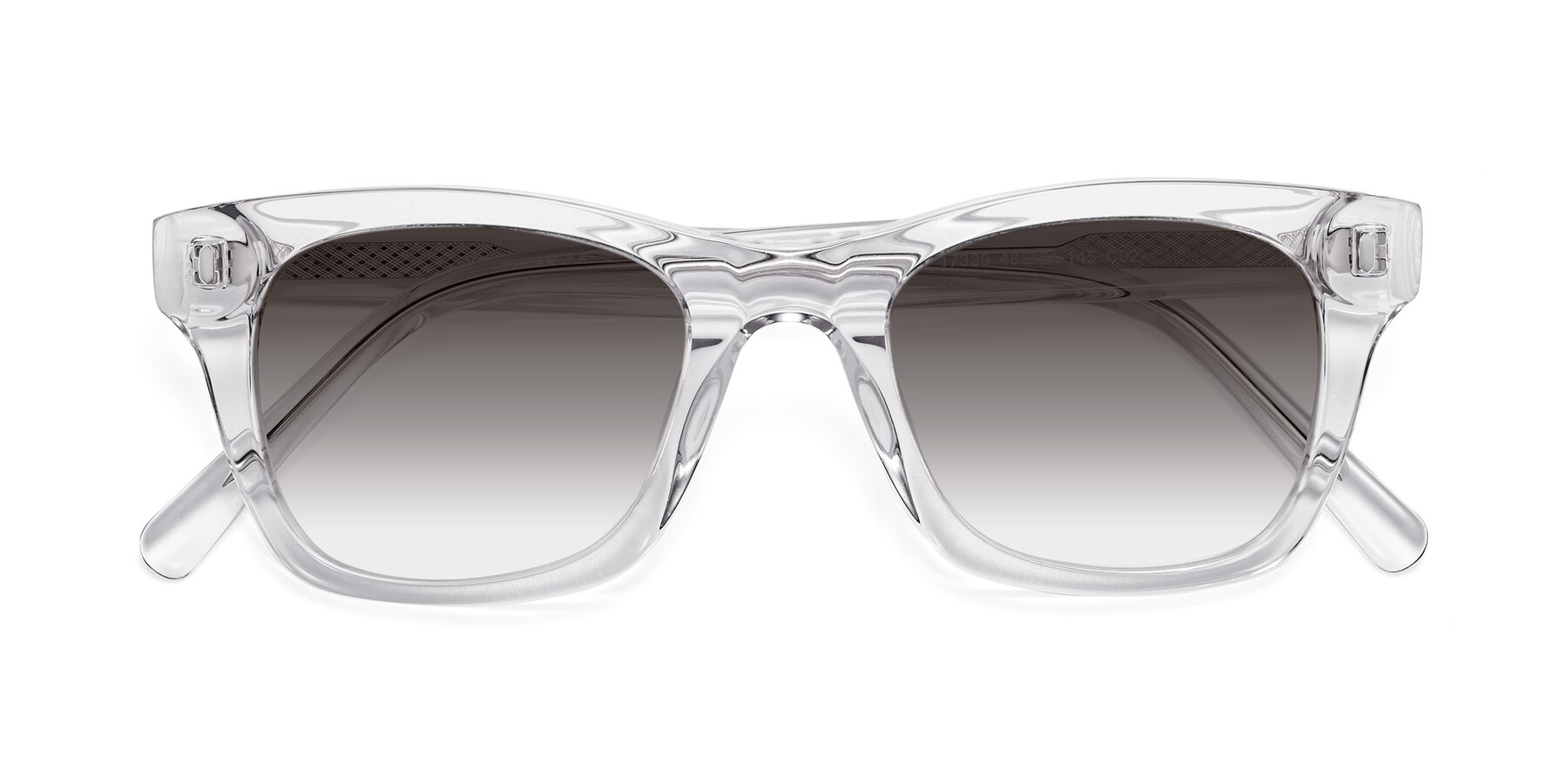 Folded Front of 17329 in Clear with Gray Gradient Lenses