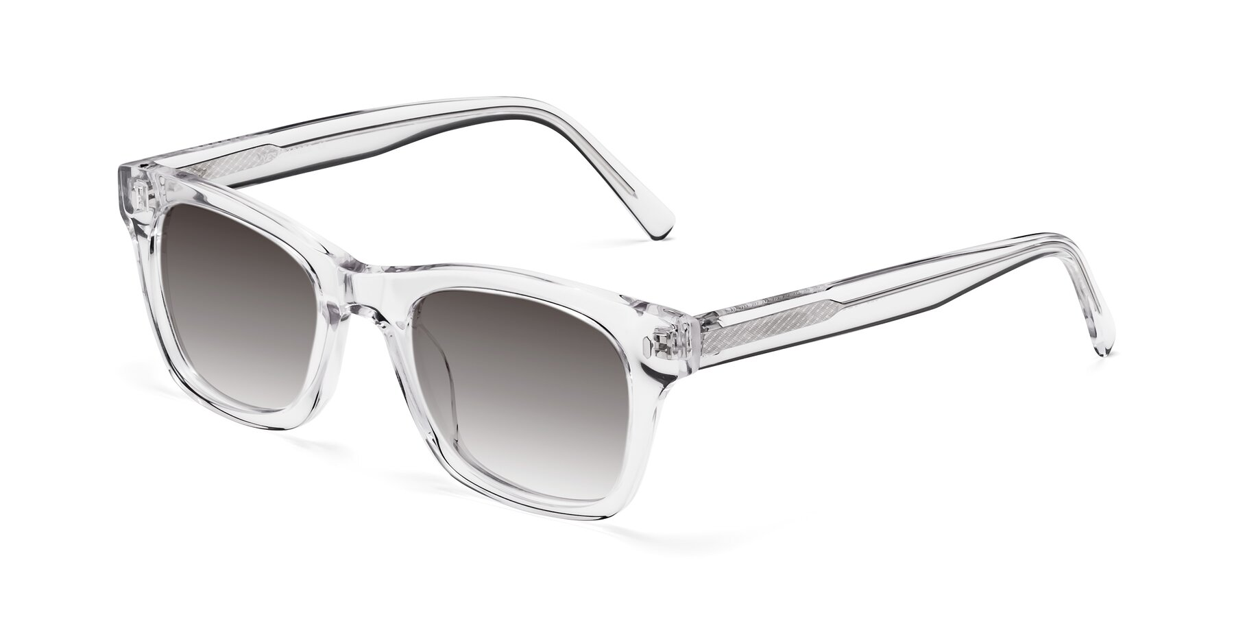 Angle of 17329 in Clear with Gray Gradient Lenses