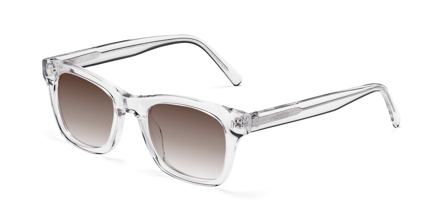 Angle of 17329 in Clear with Brown Gradient Lenses