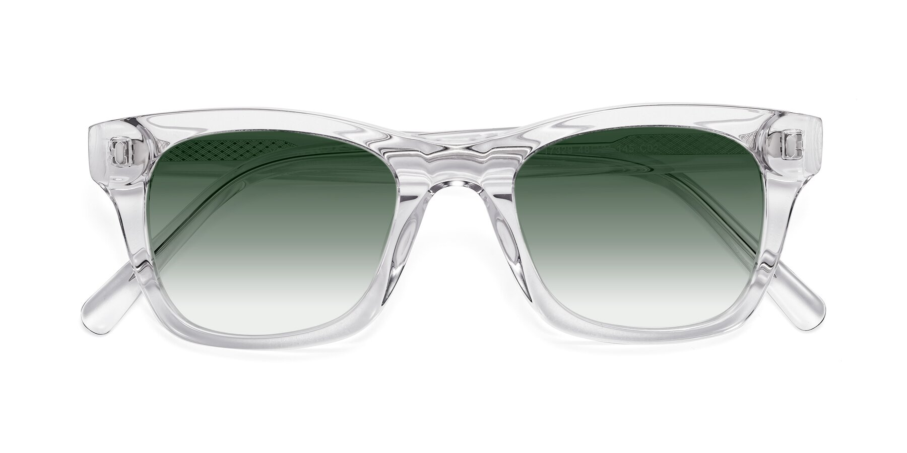 Folded Front of 17329 in Clear with Green Gradient Lenses
