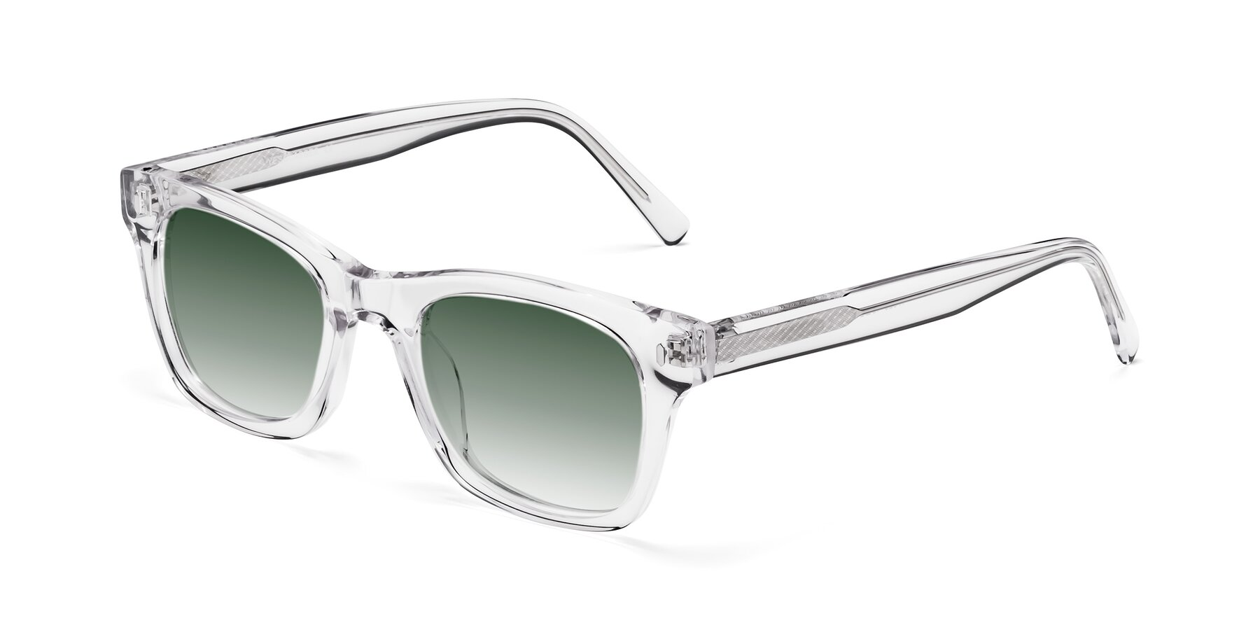 Angle of 17329 in Clear with Green Gradient Lenses