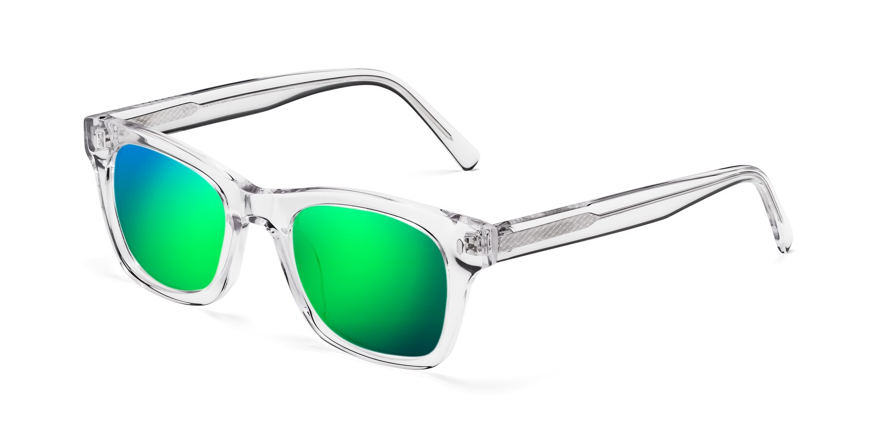 Angle of 17329 in Clear with Green Mirrored Lenses