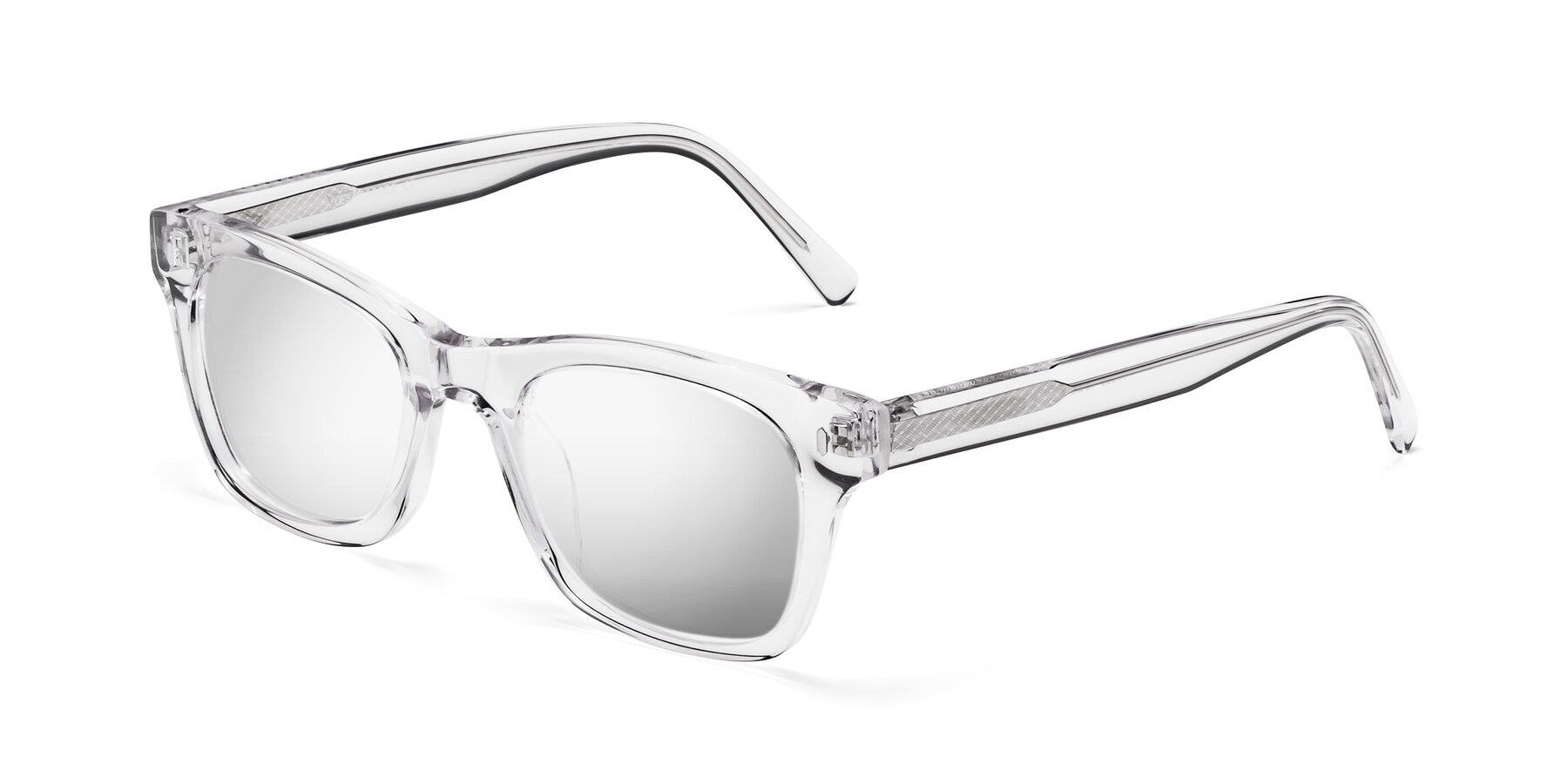 Angle of 17329 in Clear with Silver Mirrored Lenses