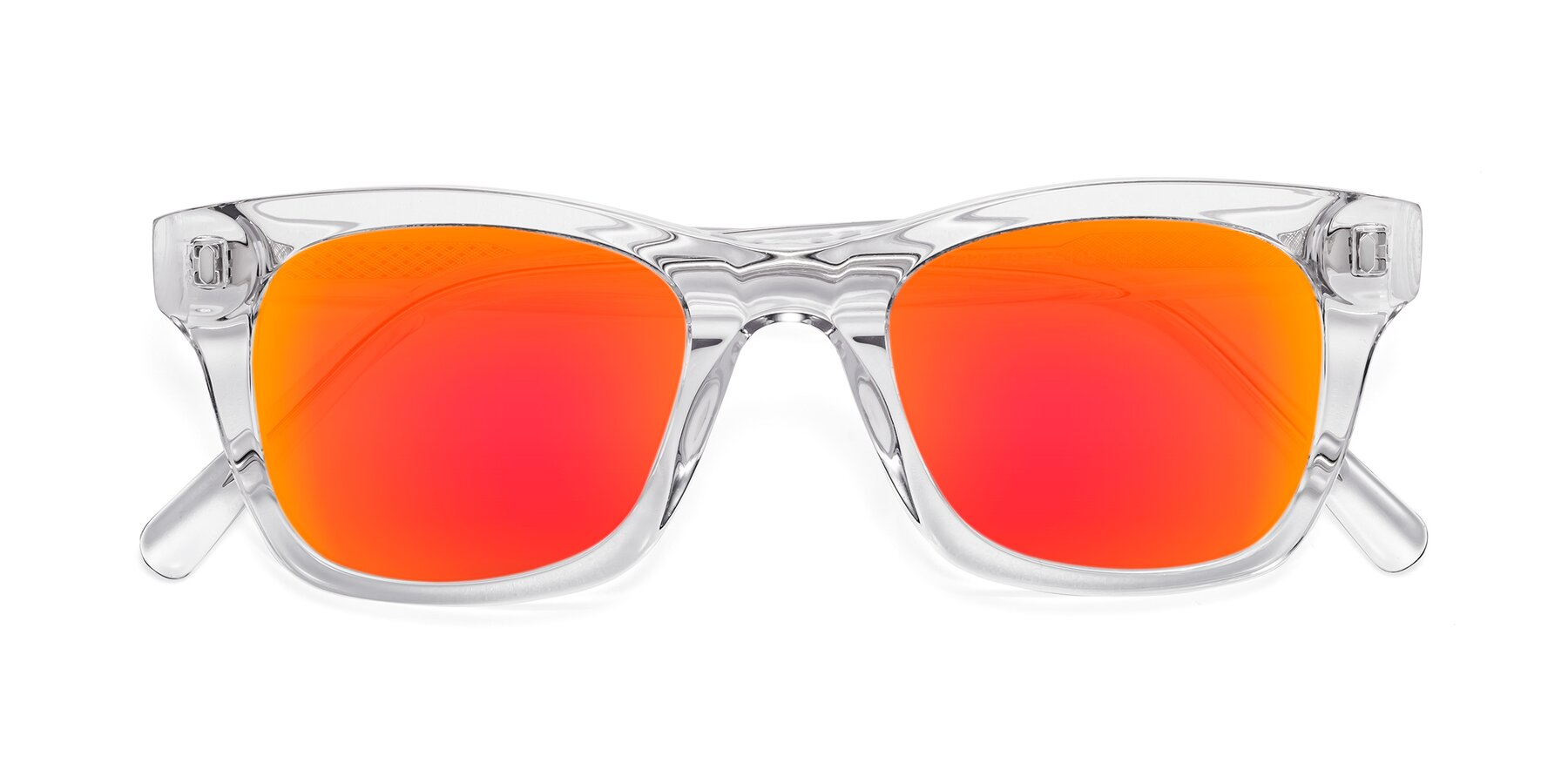 Folded Front of 17329 in Clear with Red Gold Mirrored Lenses