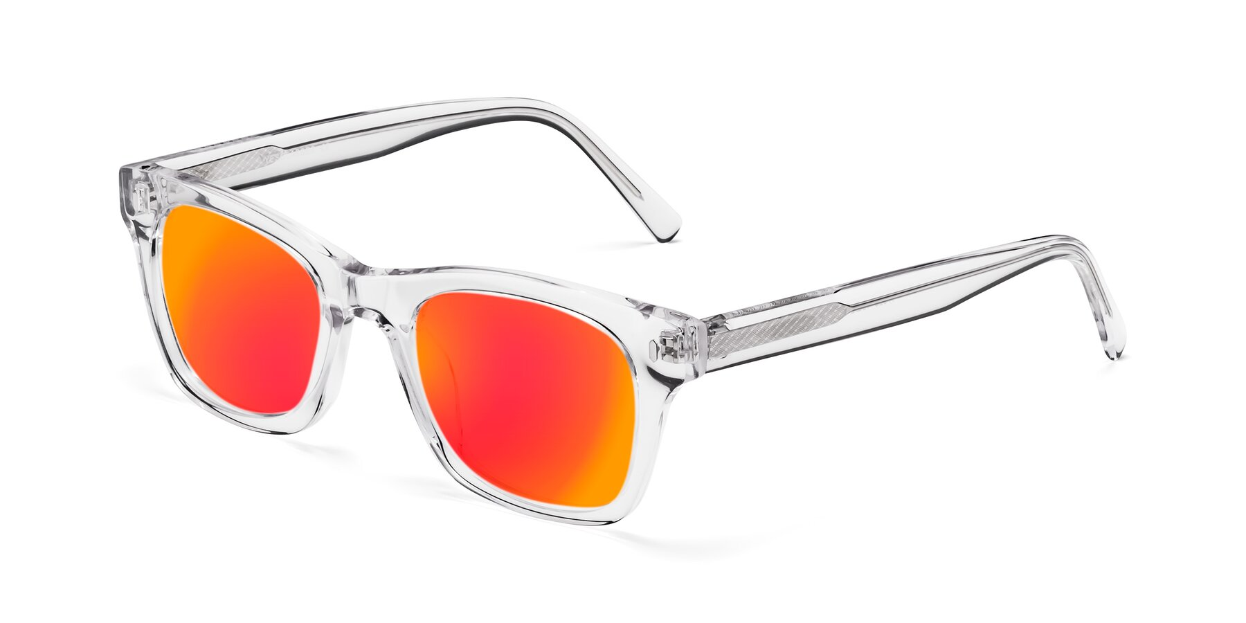 Angle of 17329 in Clear with Red Gold Mirrored Lenses