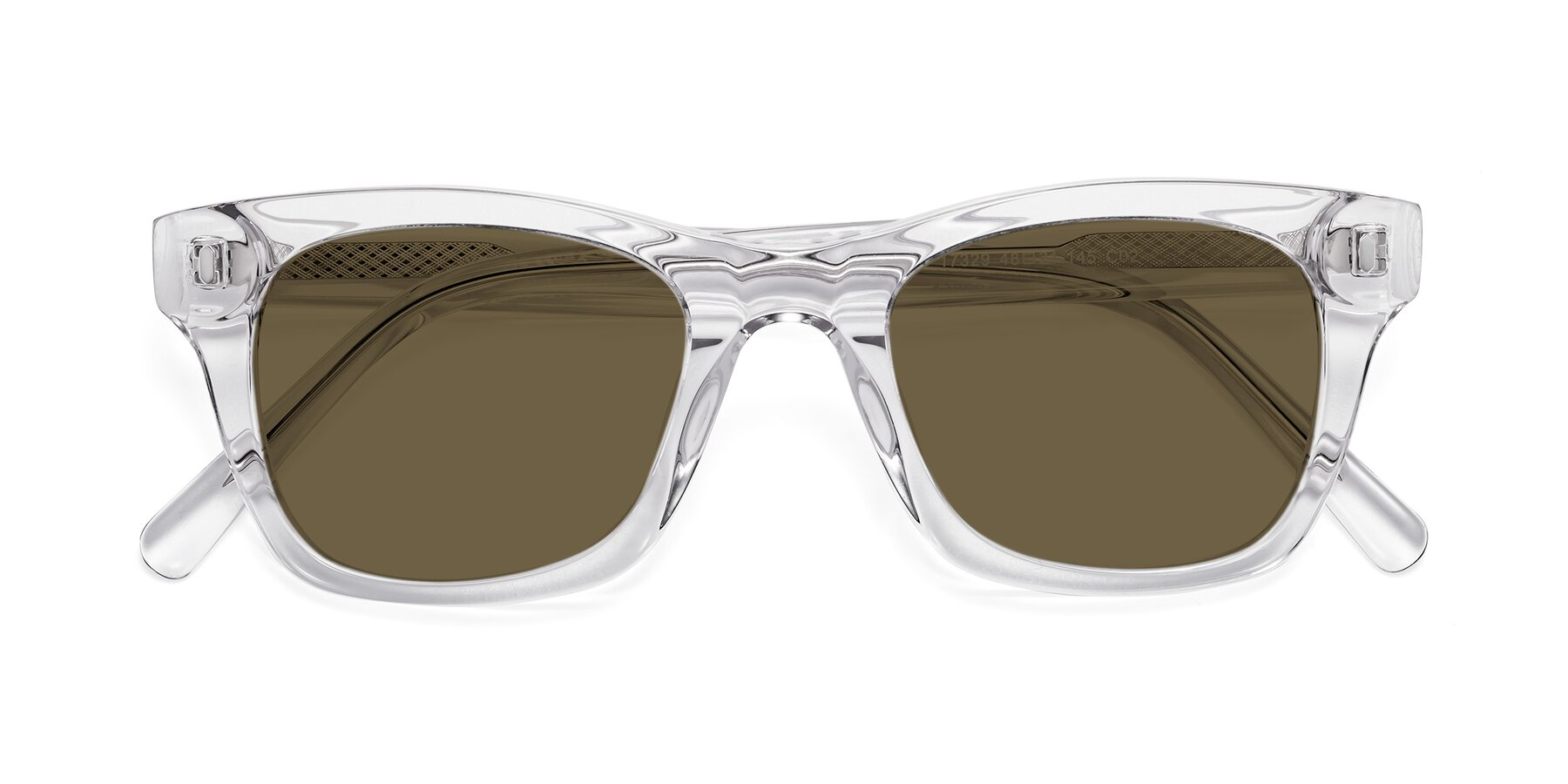 Folded Front of 17329 in Clear with Brown Polarized Lenses