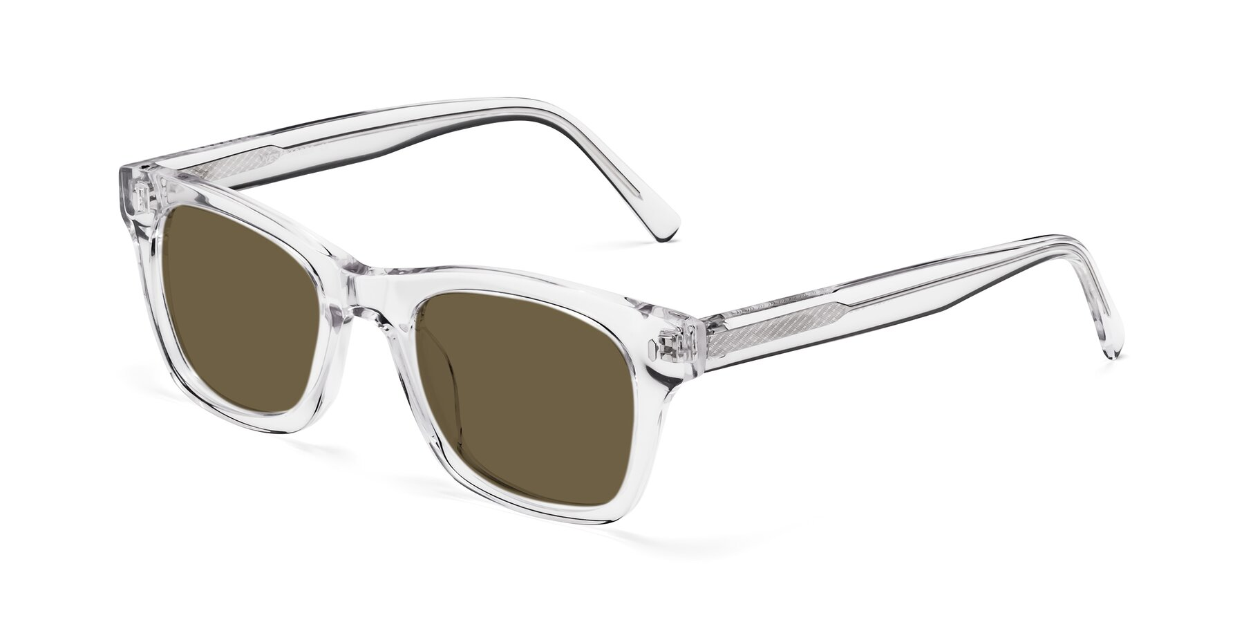 Angle of 17329 in Clear with Brown Polarized Lenses