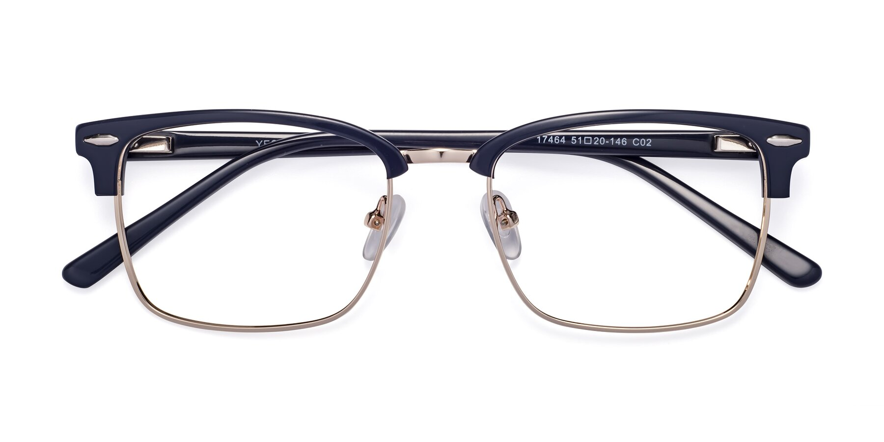 Folded Front of 17464 in Blue-Gold with Clear Blue Light Blocking Lenses