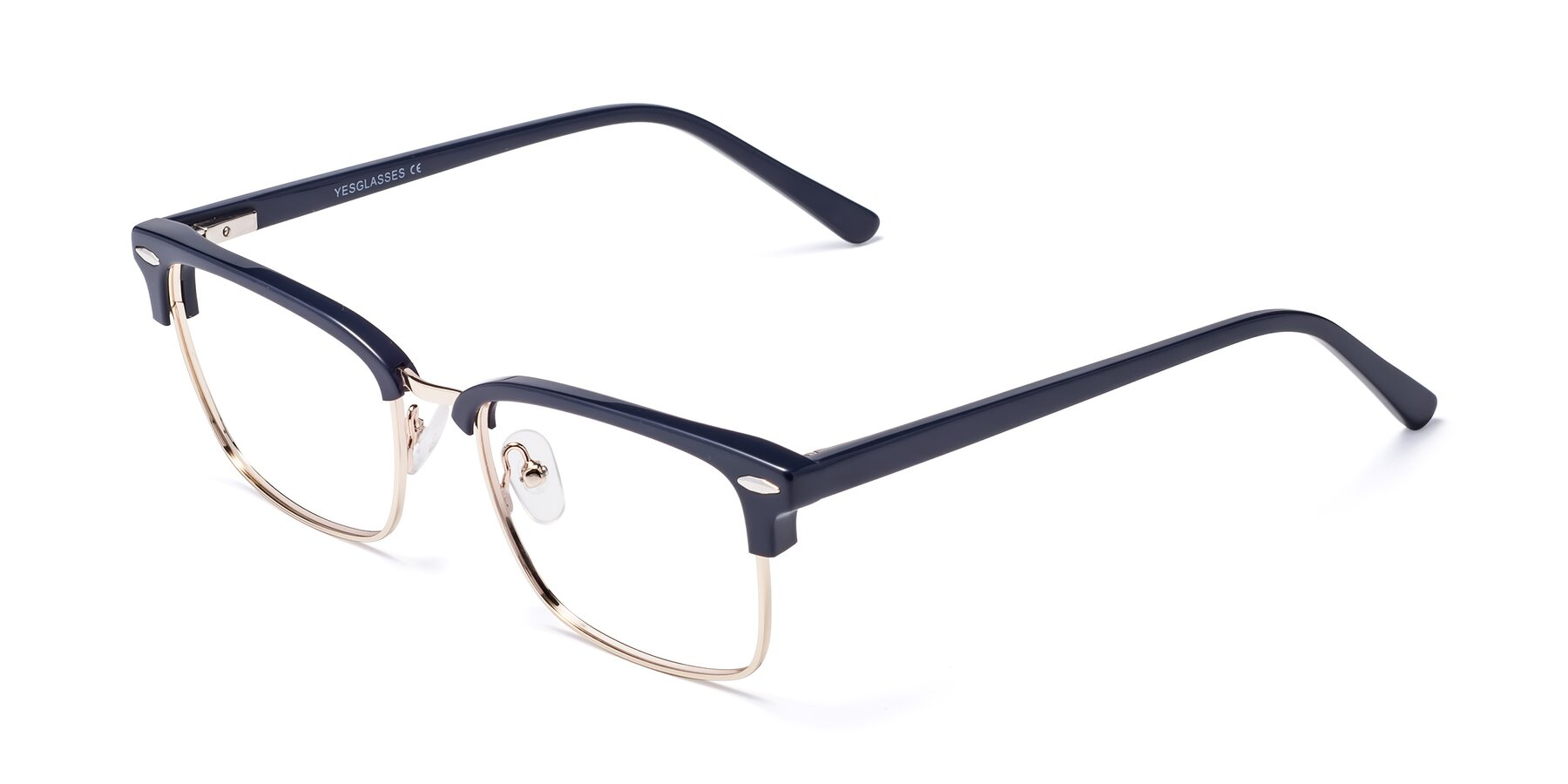 Angle of 17464 in Blue-Gold with Clear Blue Light Blocking Lenses