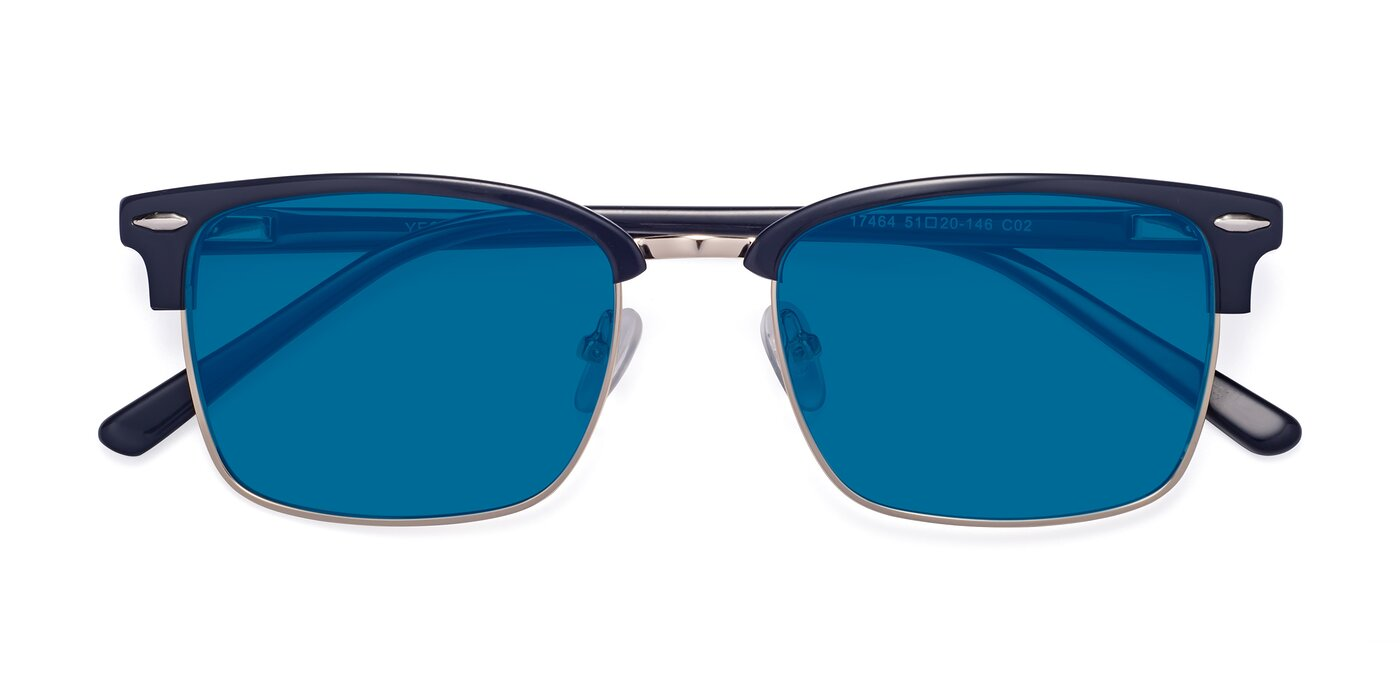17464 - Blue / Gold Tinted Sunglasses