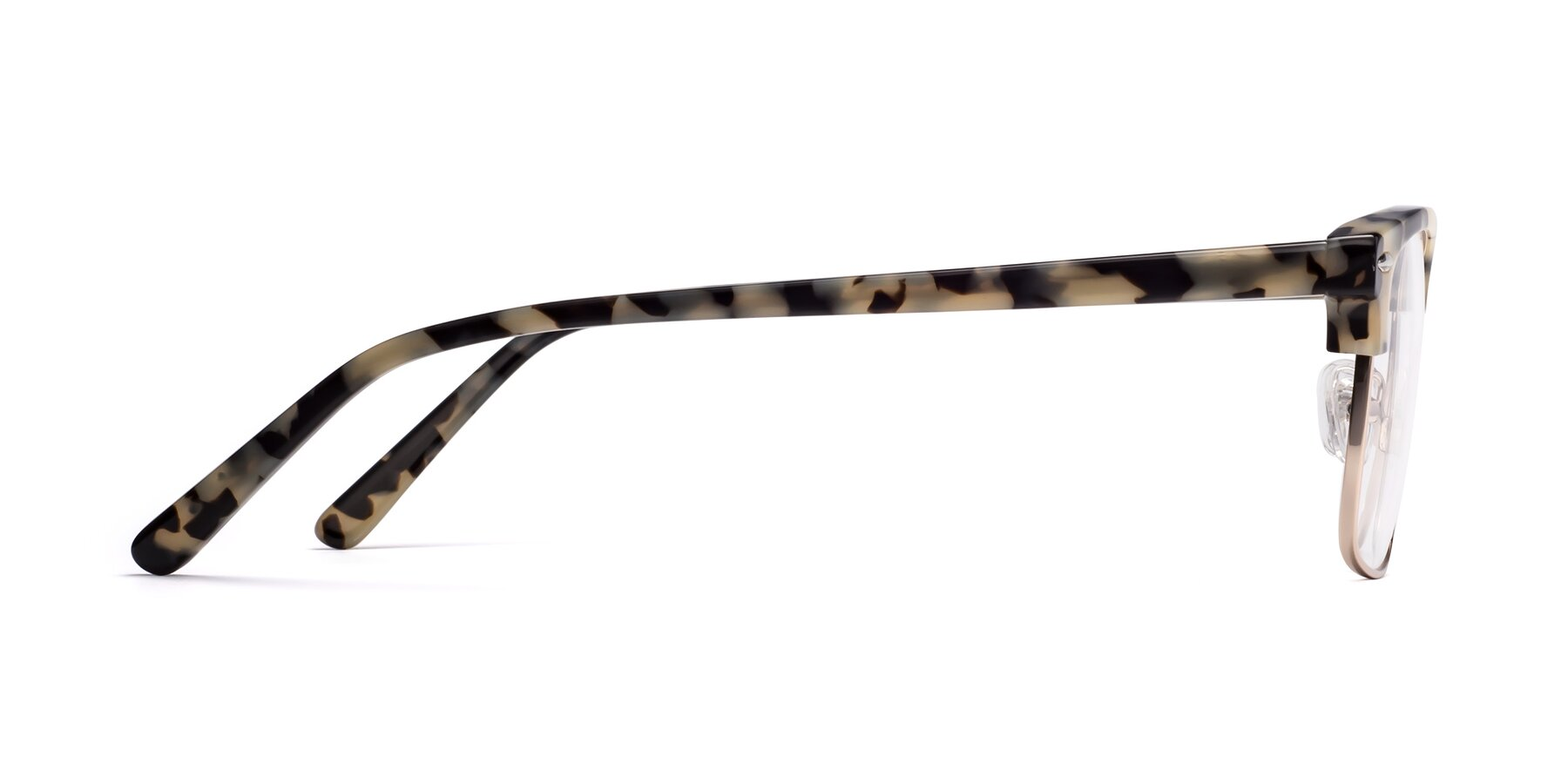 Side of 17464 in Tortoise-Gold with Clear Blue Light Blocking Lenses