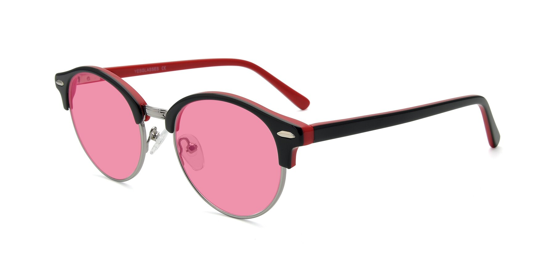 Angle of 17462 in Black-Wine with Pink Tinted Lenses