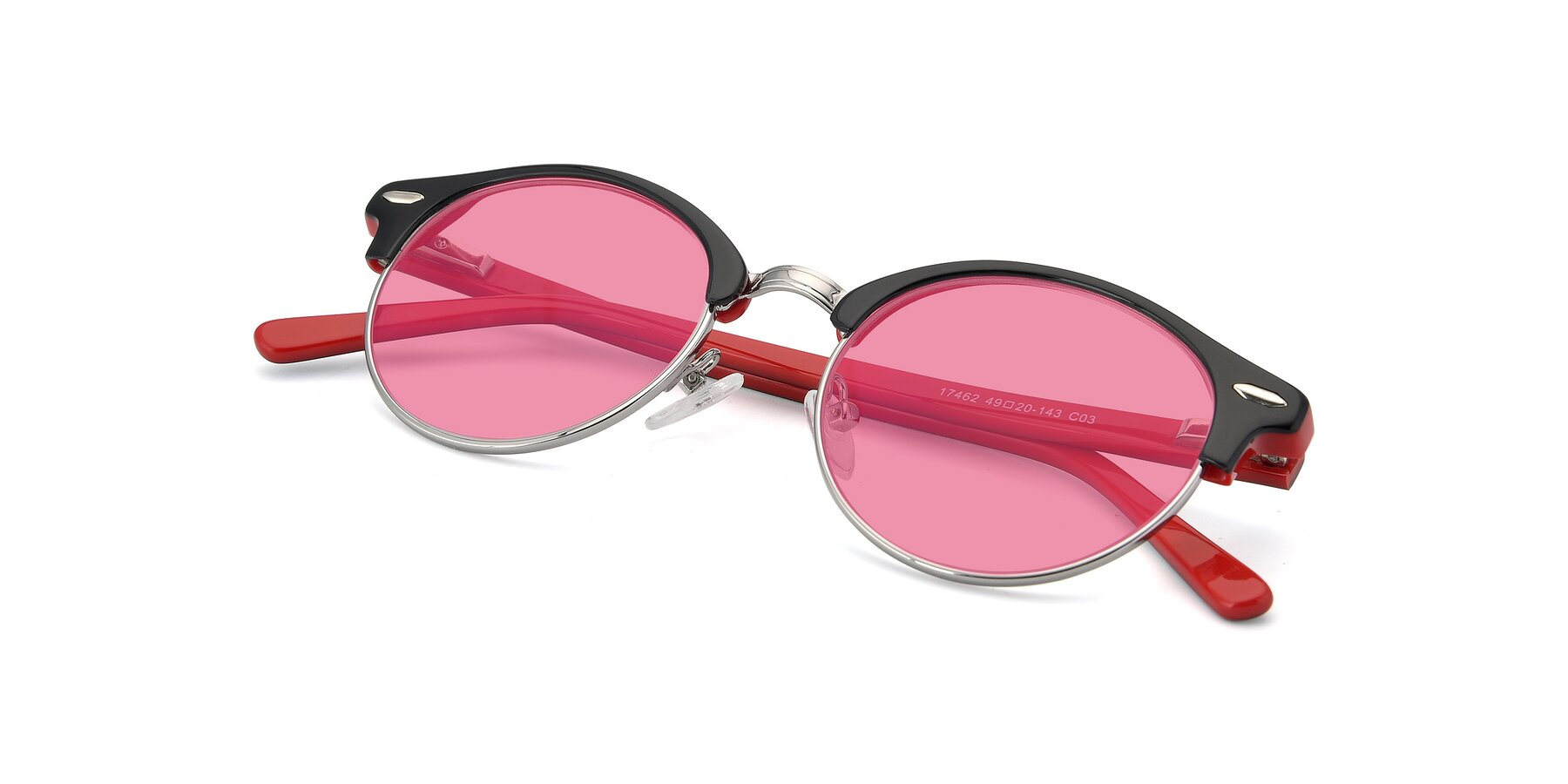 View of 17462 in Black-Wine with Pink Tinted Lenses