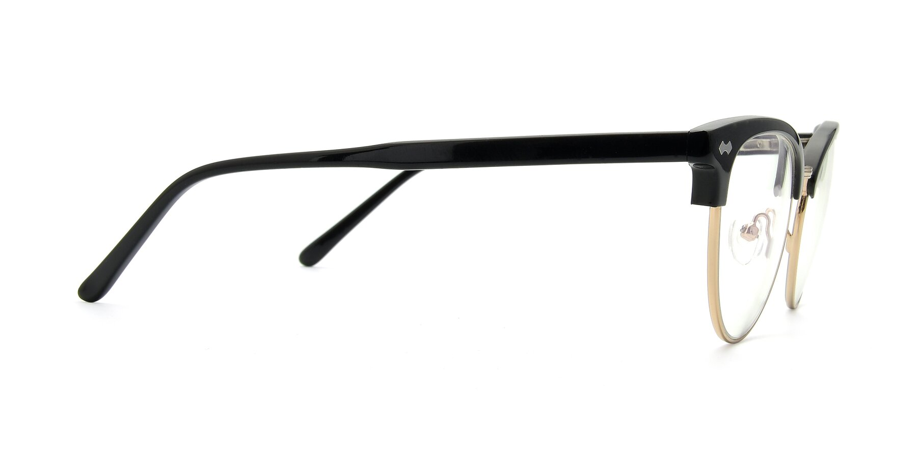Side of 17461 in Black-Gold with Clear Eyeglass Lenses