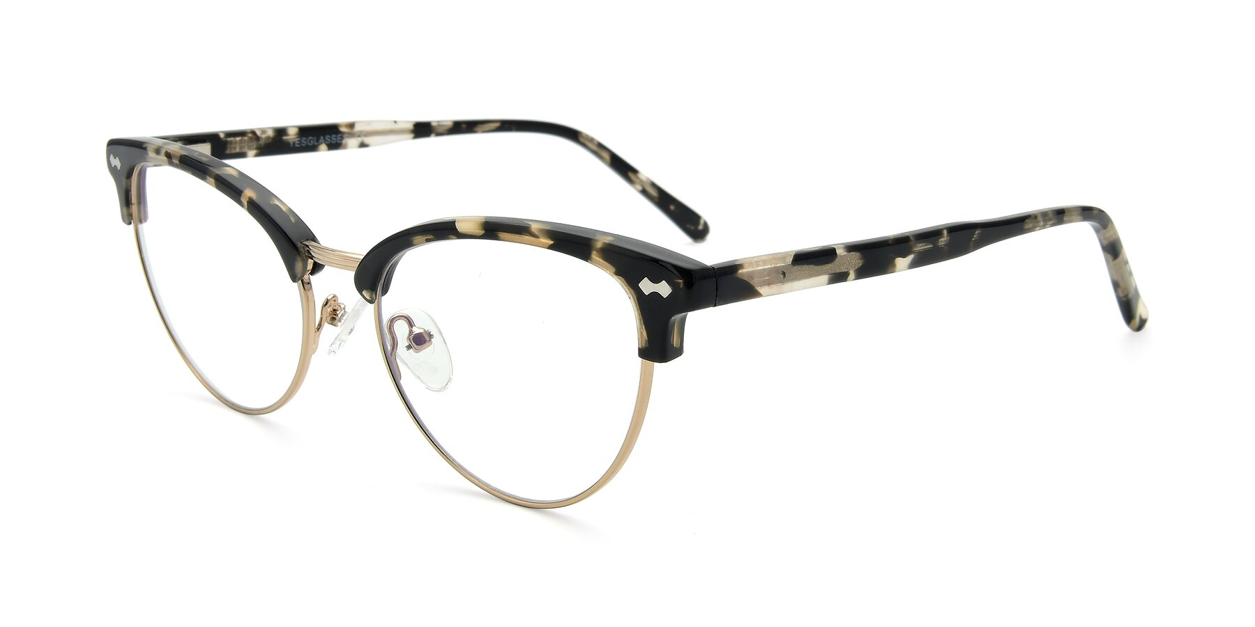 Angle of 17461 in Tortoise-Gold with Clear Eyeglass Lenses