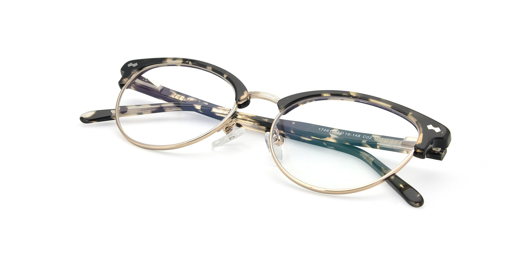 View of 17461 in Tortoise-Gold with Clear Eyeglass Lenses