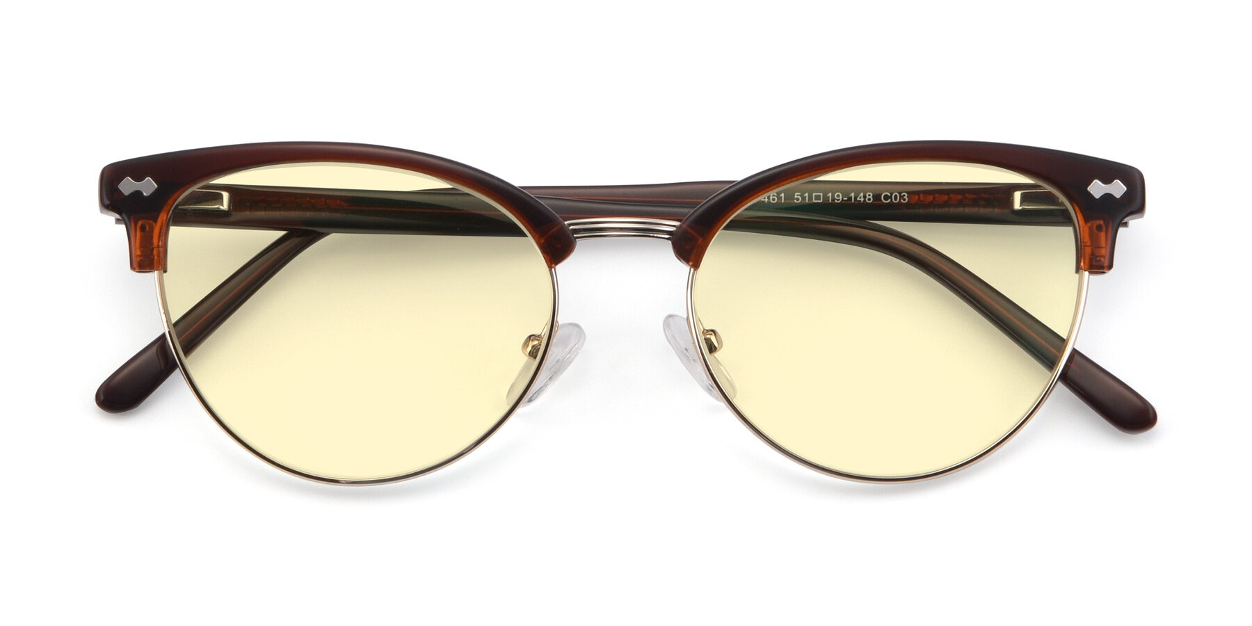 Folded Front of 17461 in Tortoise-Black with Light Yellow Tinted Lenses