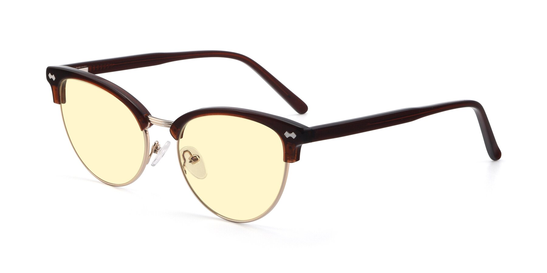 Angle of 17461 in Tortoise-Black with Light Yellow Tinted Lenses