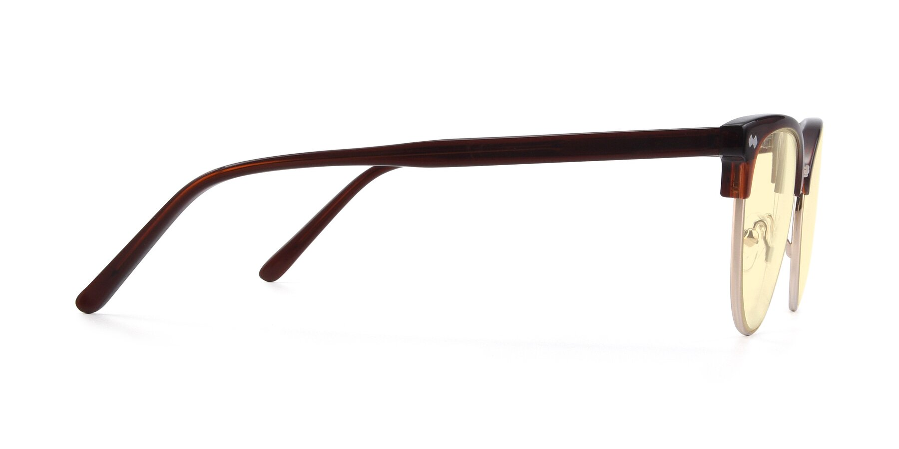 Side of 17461 in Tortoise-Black with Light Yellow Tinted Lenses