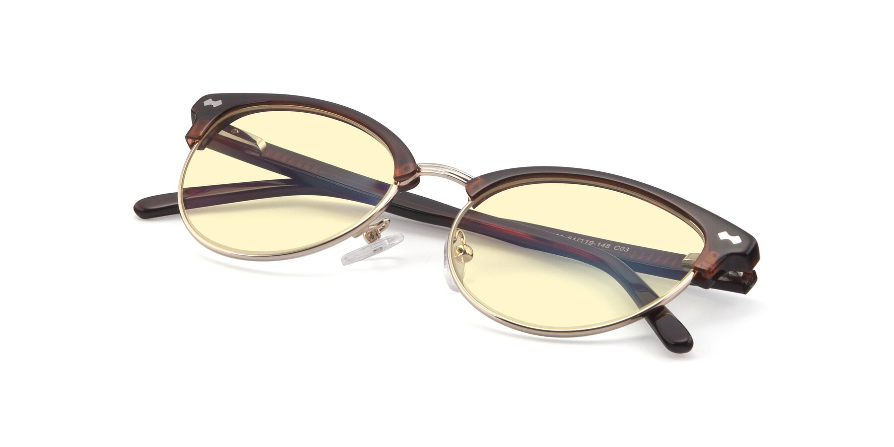 View of 17461 in Tortoise-Black with Light Yellow Tinted Lenses