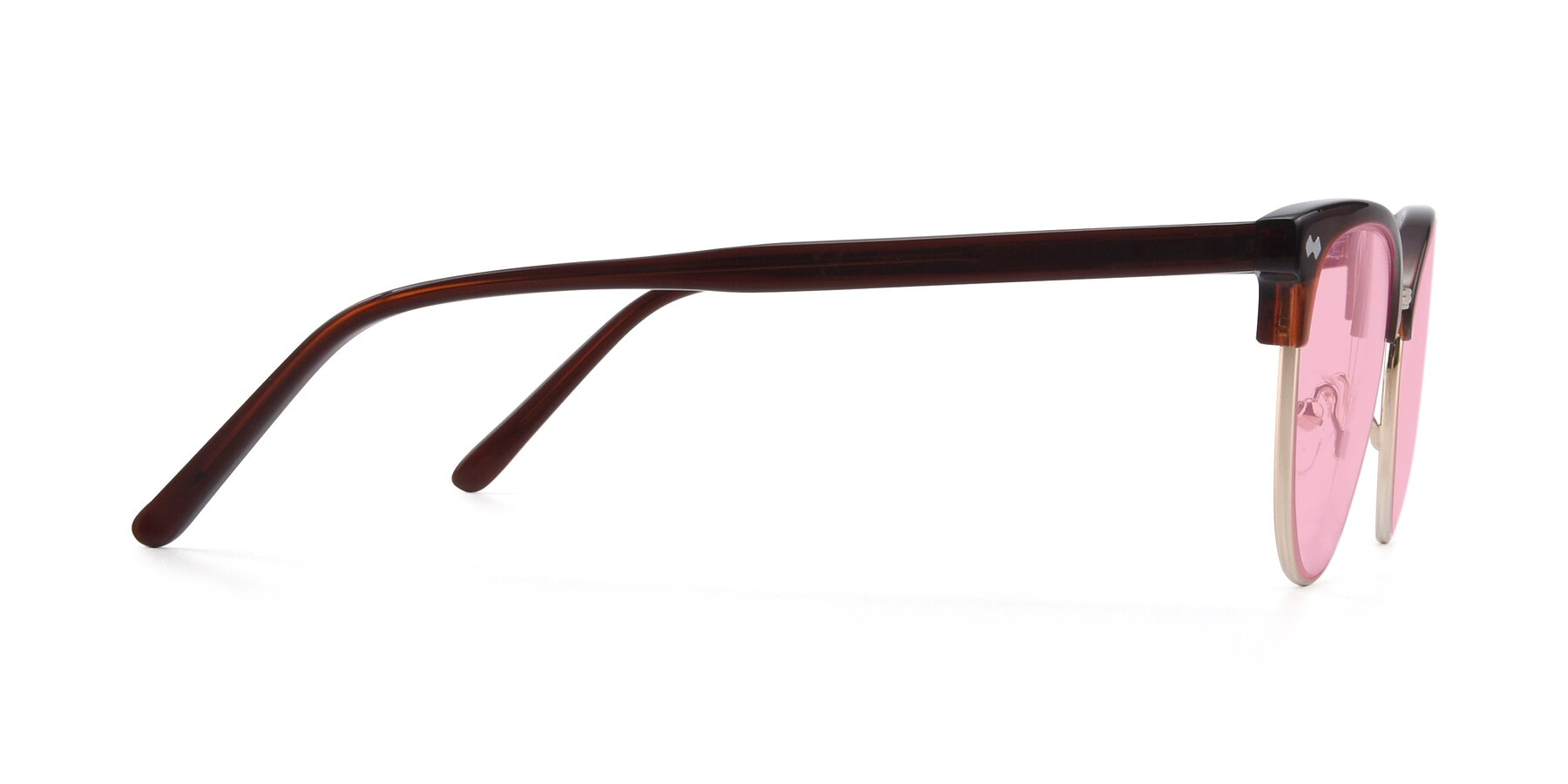 Side of 17461 in Tortoise-Black with Medium Pink Tinted Lenses