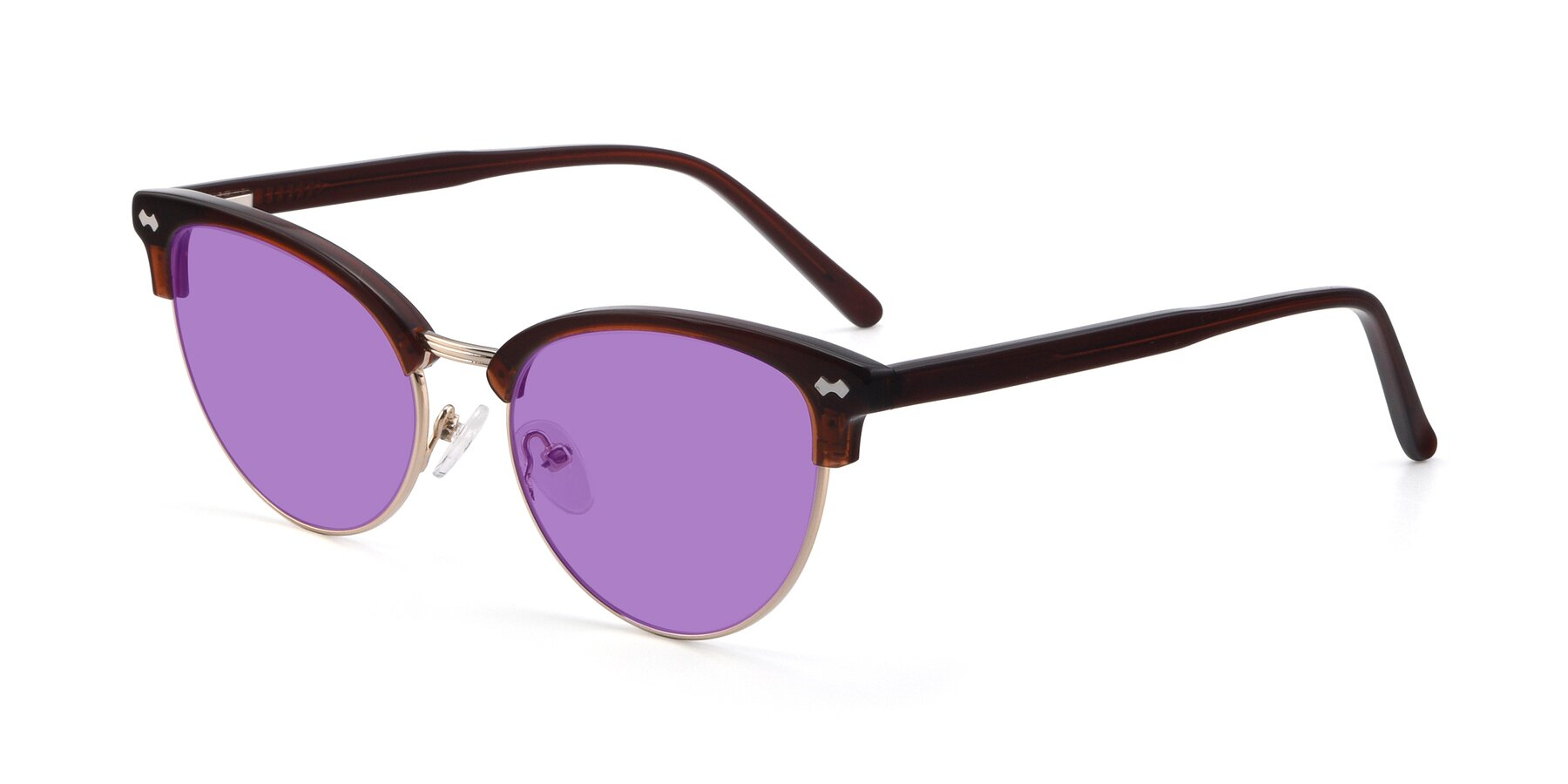 Angle of 17461 in Tortoise-Black with Medium Purple Tinted Lenses