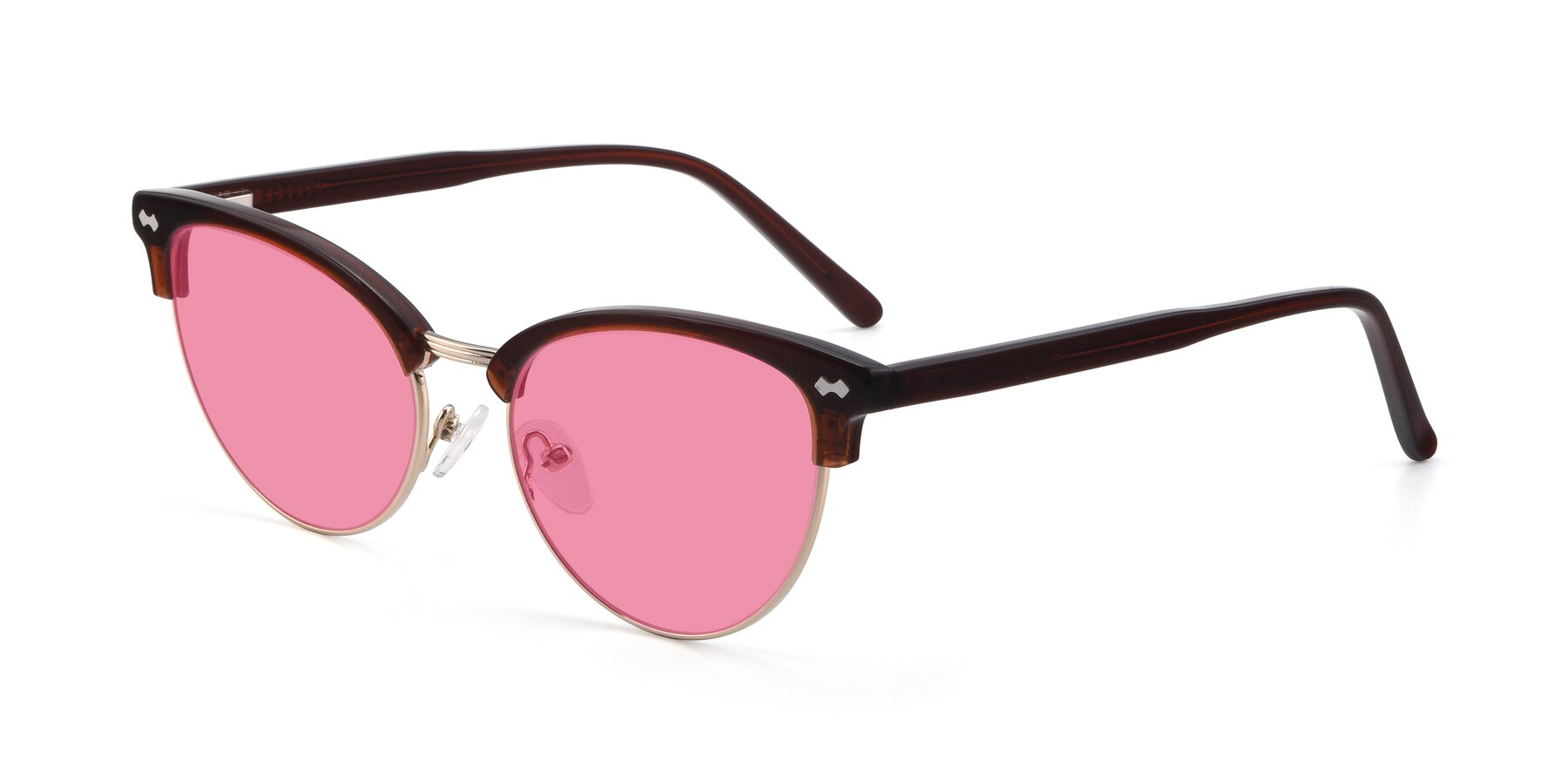 Angle of 17461 in Tortoise-Black with Pink Tinted Lenses