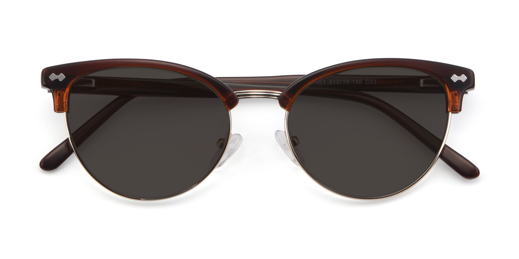 Folded Front of 17461 in Tortoise-Black with Gray Tinted Lenses