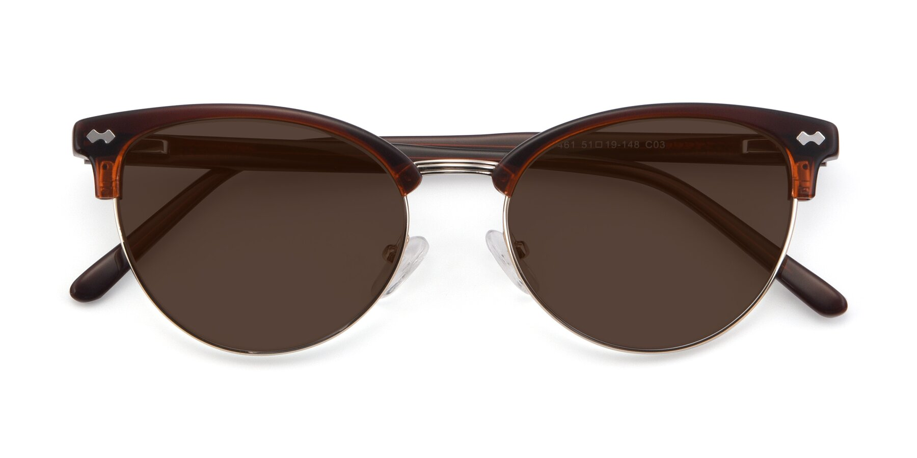 Folded Front of 17461 in Tortoise-Black with Brown Tinted Lenses